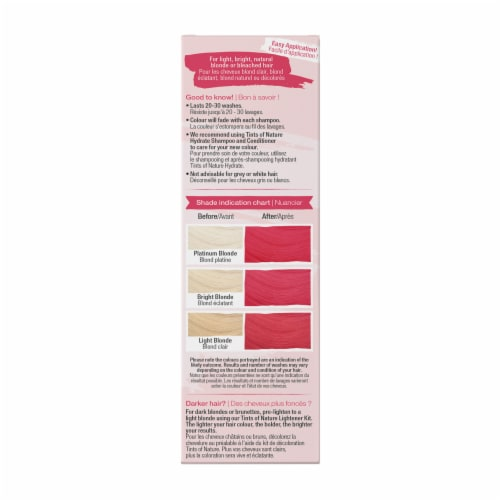 Tints of Nature Bold Colours Fuchsia Semi-Permanent Hair Color Perspective: right