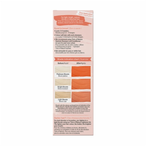 Tints of Nature Bold Colours Orange Semi-Permanent Hair Color Perspective: right