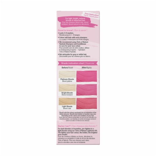 Tints of Nature Bold Colours Pink Semi-Permanent Hair Color Perspective: right