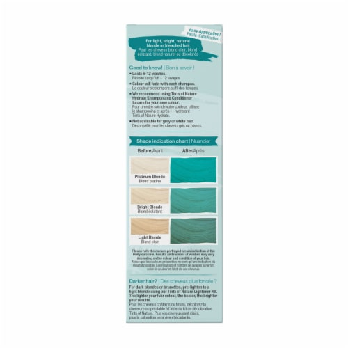 Tints of Nature Bold Colours Teal Semi-Permanent Hair Color Perspective: right