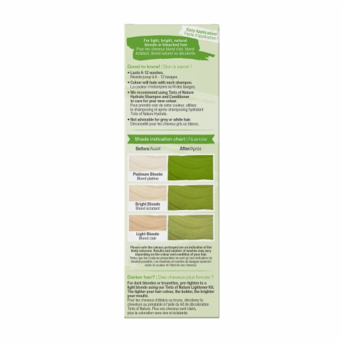 Tints of Nature Bold Colours Green Semi-Permanent Hair Color Perspective: right