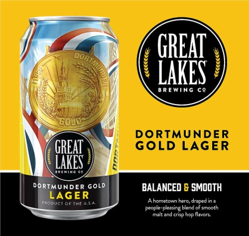 Great Lakes Brewing Co. Dortmunder Gold Lager Perspective: right