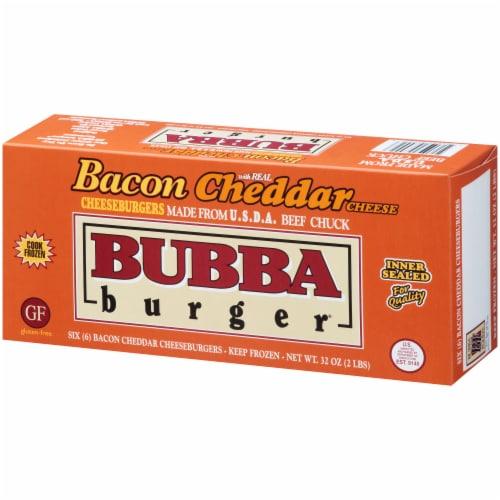 Bubba Burger Gluten Free Bacon Cheddar Cheeseburgers Perspective: right