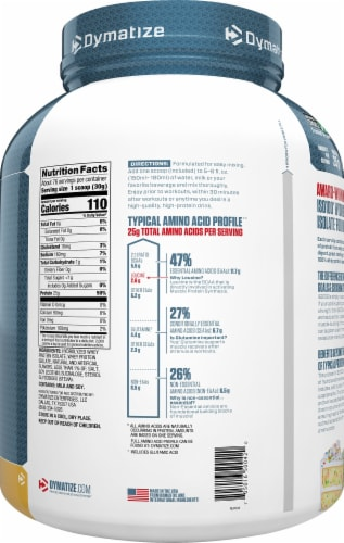Dymatize ISO100 Hydrolyzed Birthday Cake Flavored Whey Protein Isolate Perspective: right