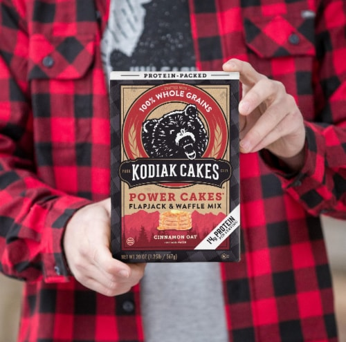 Kodiak Cakes Power Cakes Cinnamon Oat Flapjack and Waffle Mix Perspective: right