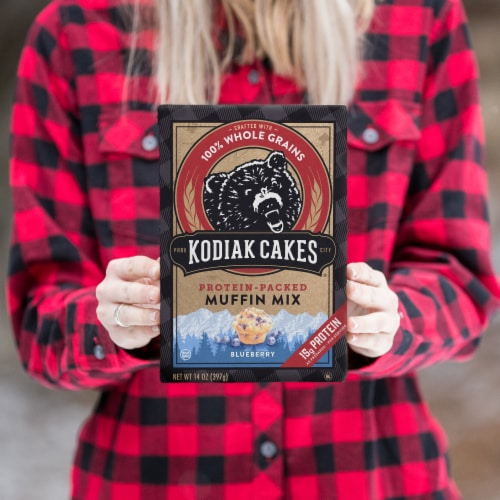 Kodiak Cakes Blueberry Protein-Packed Muffin Mix Perspective: right