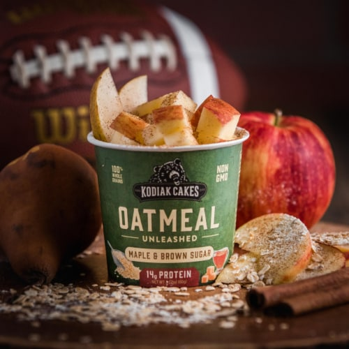 Kodiak Cakes Maple Brown Sugar Protein Oatmeal Power Cup Perspective: right