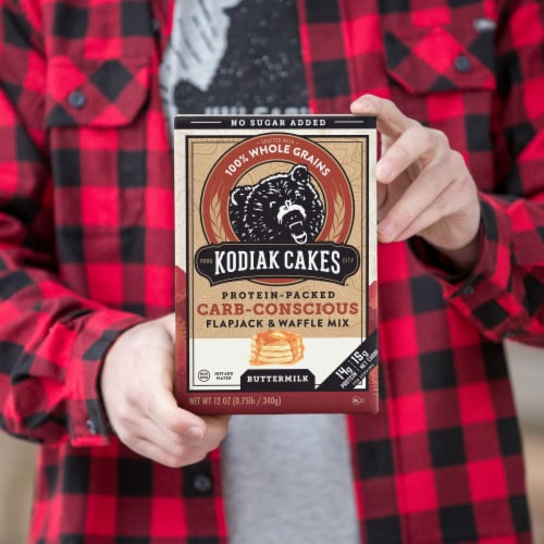 Kodiak Cakes Buttermilk Protein-Packed Carb-Conscious Flapjack & Waffle Mix Perspective: right