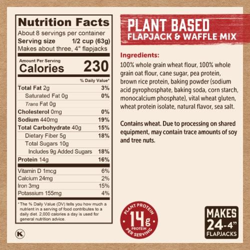 Kodiak Cakes Plant Based Pancake Mix Perspective: right
