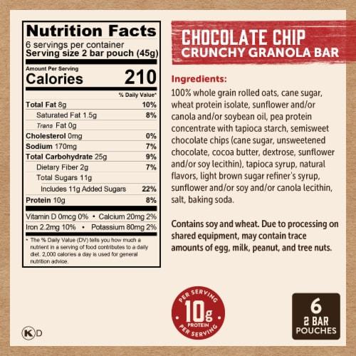 Kodiak Cakes Chocolate Chip Crunchy Granola Bars Perspective: right