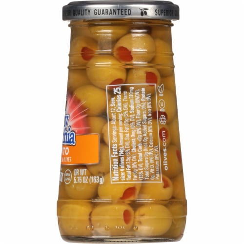 Early California Pimiento Stuffed Manzilla Green Olives Perspective: right