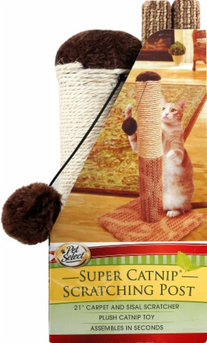 Pet Select Super Catnip Scratching Post Perspective: right