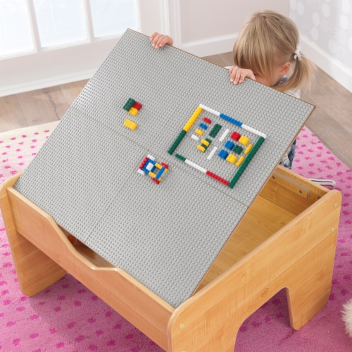 KidKraft Activity Table with Board - Gray & Natural Perspective: right