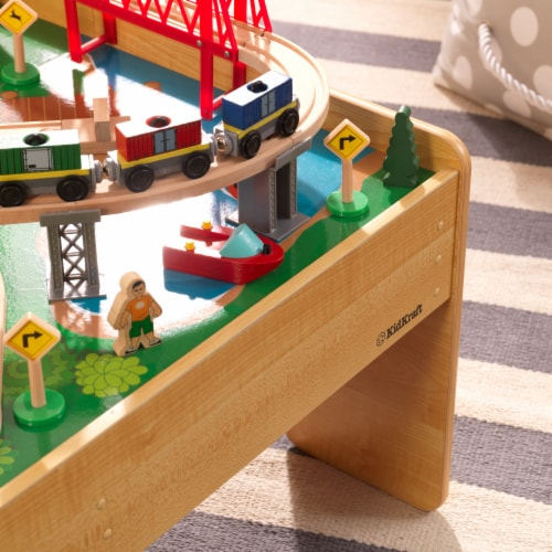 KidKraft Adventure Town Railway Train Set & Table with EZ Kraft Assembly™ Perspective: right