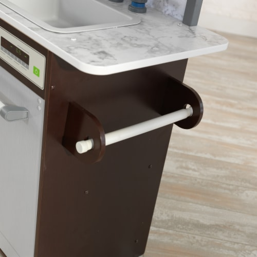 KidKraft Uptown Elite Espresso Play Kitchen with EZ Kraft Assembly™ Perspective: right