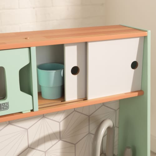 KidKraft Mid-Century Modern Play Kitchen with EZ Kraft Assembly™ Perspective: right
