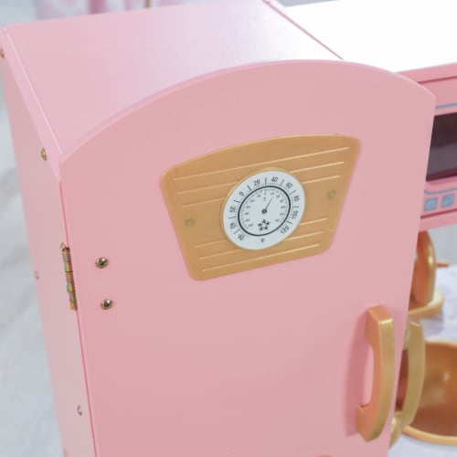 KidKraft Limited Edition Vintage Kitchen - Pink & Gold Perspective: right