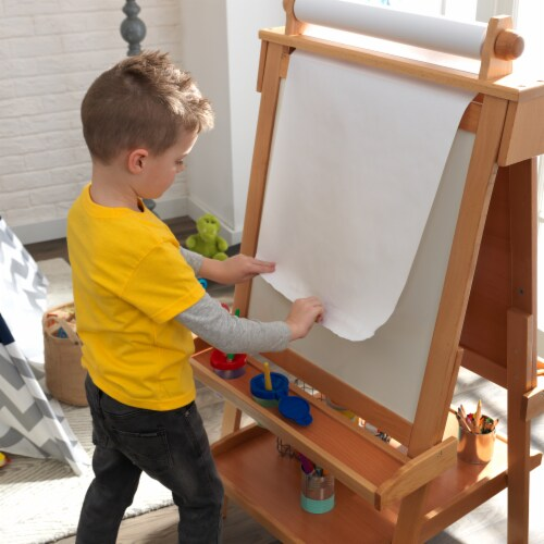 KidKraft Deluxe Wooden Easel - Natural Perspective: right
