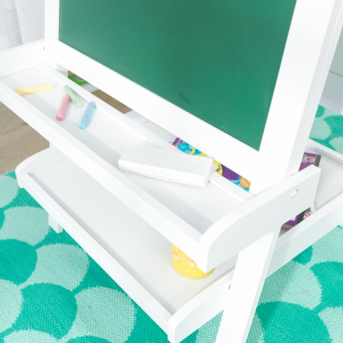 KidKraft Deluxe Wooden Easel - White Perspective: right