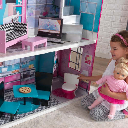 KidKraft Breanna Wooden Dollhouse for 18-Inch Dolls Perspective: right