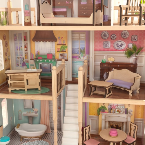 KidKraft Charlotte Dollhouse with EZ Kraft Assembly™ Perspective: right