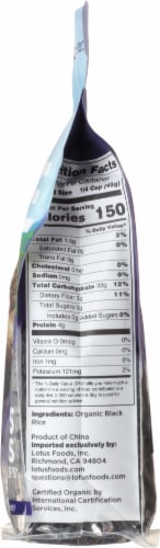 Lotus Foods Organic Forbidden Rice Perspective: right