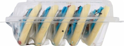 Lofthouse Patriotic Blue Frosted Sugar Cookies Perspective: right