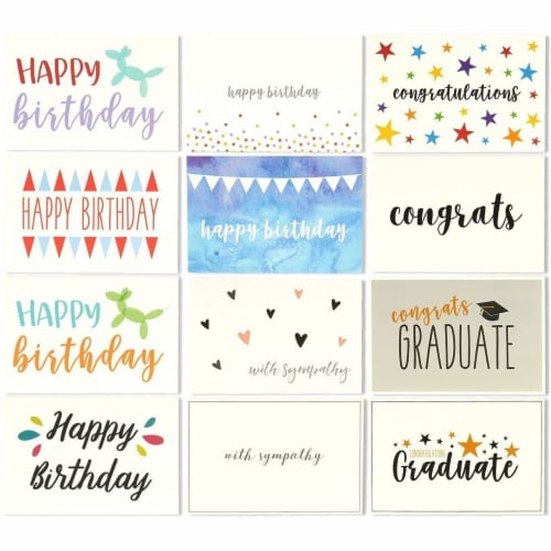 48 Assorted Greeting Cards Birthday, Thank You, Wedding, Blank Inside w/Envelope Perspective: right
