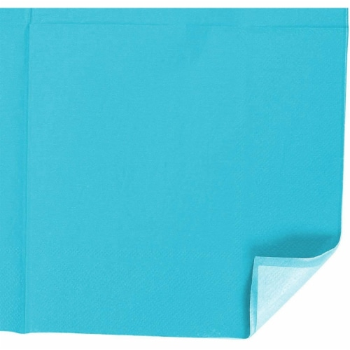 Turquoise Party Supplies, Paper Plates, Cups, and Napkins (Serves 24, 72 Pieces) Perspective: right