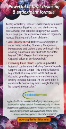 Applied Nutrition 14-Day Acai Berry Cleanse Weight-Loss Dietary Supplement Tablets Perspective: right
