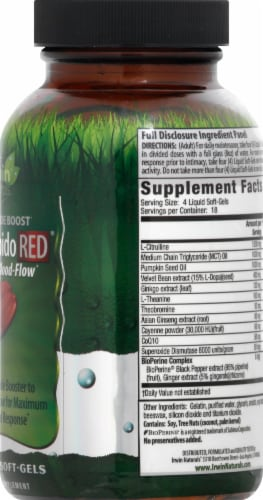 Irwin Naturals Steel-Libido Red magnum Blood-Flow Dietary Supplement Liquid Soft-Gels 75 Count Perspective: right