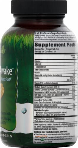 Irwin Naturals Brain Awake Liquid Soft Gels Perspective: right