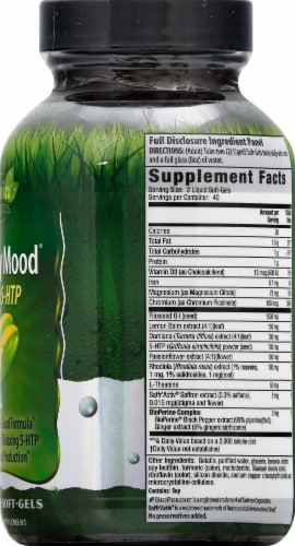 Irwin Naturals Sunny Mood 5-HTP Dietary Supplement Liquid Soft-Gels Perspective: right