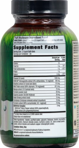 Irwin Naturals Extra Strength Ashwagandga Mind & Body Dietary Supplement Liquid Soft-Gels Perspective: right