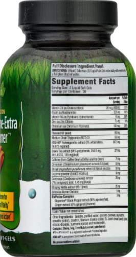 Irwin Naturals Dual Action Testosterone-Extra Fat Burner Dietary Supplement Liquid Soft Gels Perspective: right