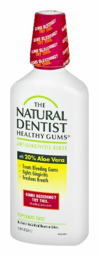 Natural Dentist Healthy Gums Peppermint Twist Antigingivitis Rinse Perspective: right
