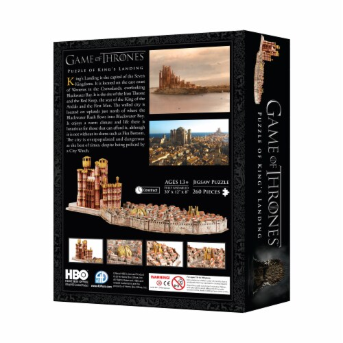 4D Cityscape Game of Thrones: Kings Landing Puzzle Perspective: right