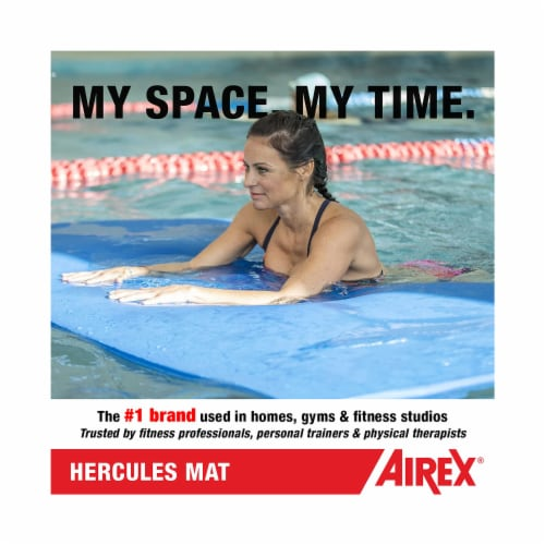 Airex Hercules Closed Cell Foam Fitness Mat for Yoga, Pilates, & Gym Use, Blue Perspective: right
