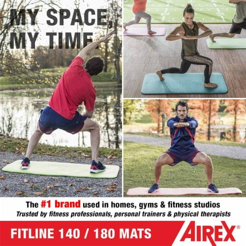 Airex Fitline 140 Closed Cell Foam Fitness Mat for Gym Use, Yoga & Pilates, Pink Perspective: right