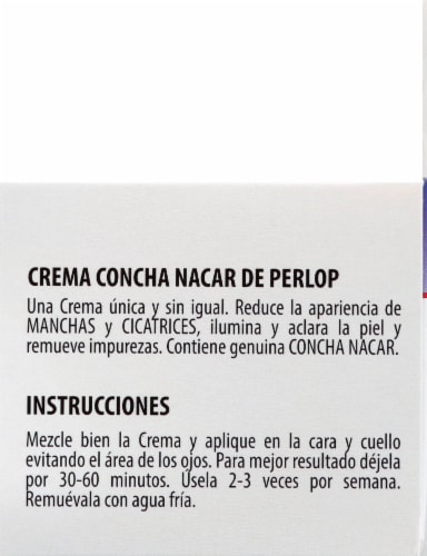 Concha Nacar 3 Blanca White Bleach Face Cream Perspective: right