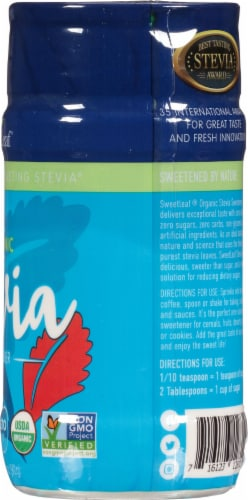 SweetLeaf Sweetener Organic Stevia Sweetener Perspective: right