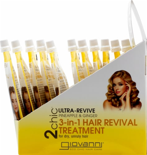 Giovanni 2chic Ultra-Revive Pineapple & Ginger 3-in-1 Hair Revival Treatment Perspective: right