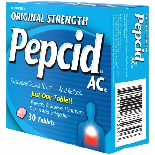Pepcid AC Original Strength Acid Reducer Tablets 10mg Perspective: right