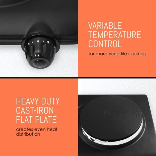 Elite by Maxi-Matic Double Electric Cast Iron Burner Perspective: right
