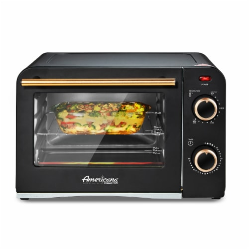 Americana Collection Retro 4 Slice Toaster Oven Perspective: right
