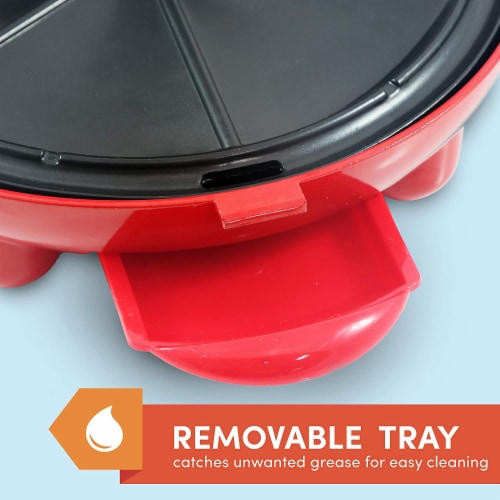Elite Gourmet Quesadilla Maker - Red Perspective: right