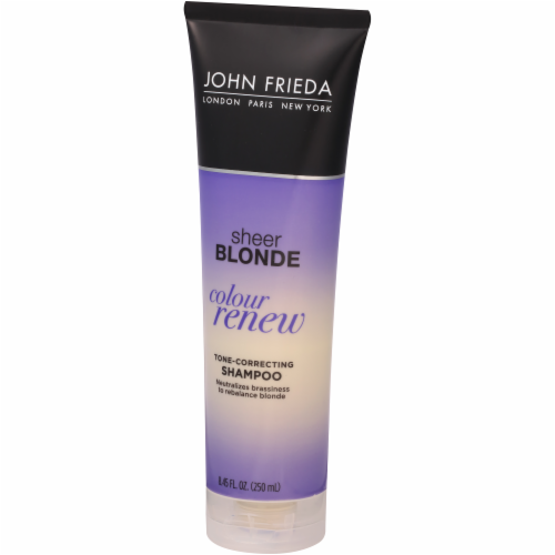John Frieda Sheer Blonde Color Renew Tone Correcting Shampoo Perspective: right