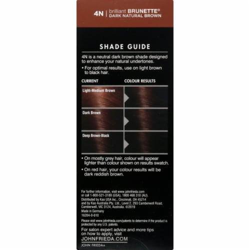 John Frieda Brilliant Brunette 4N Dark Natural Brown Precision Foam Hair Color Perspective: right