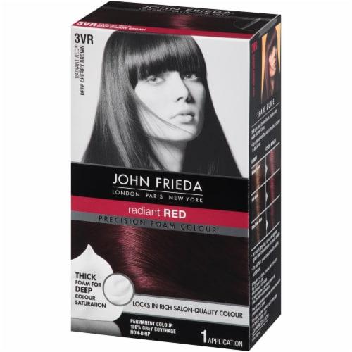 John Frieda 3VR Dark Cherry Brown Foam Hair Color Perspective: right