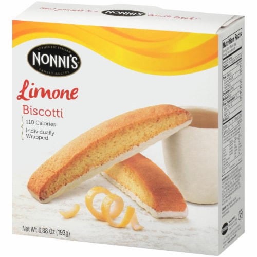 Nonni's Limone Biscotti 8 Count Perspective: right